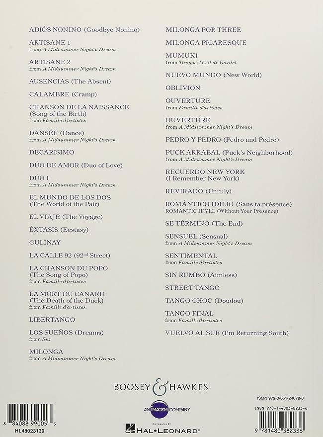 40 Piazzolla Tangos for Piano Piano: PIAZZOLLA, ASTOR: Amazon.es ...