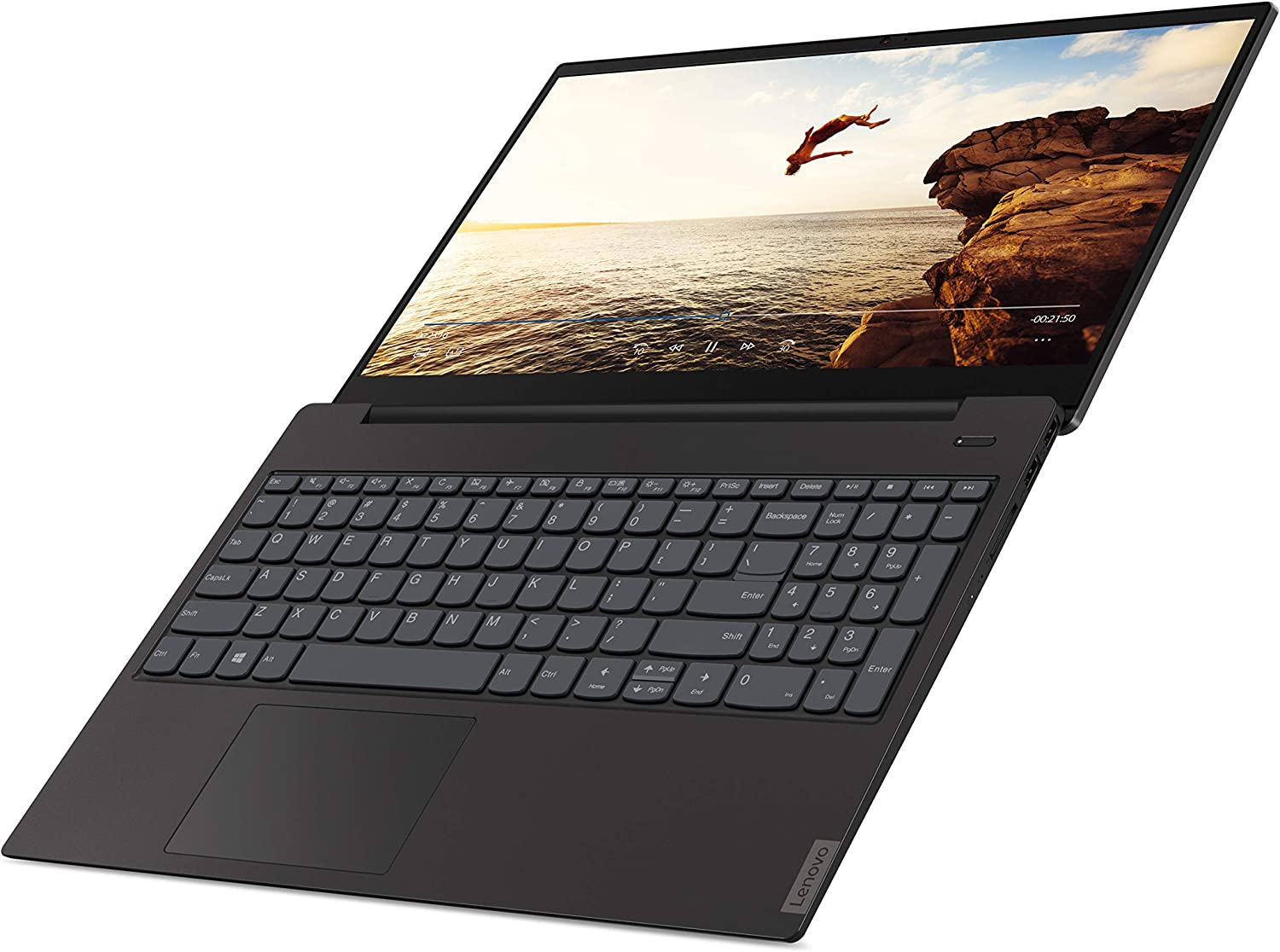 "Lenovo ideaPad S340 15.6"" 8GB Memory, 256GB PCIe SSD Laptop, Core i3-8145U, Dual-Core up to 3.90 GHz, USB-C, DDR4 RAM, Webcam, Keypad, Bluetooth 4.1, Win 10, Black"