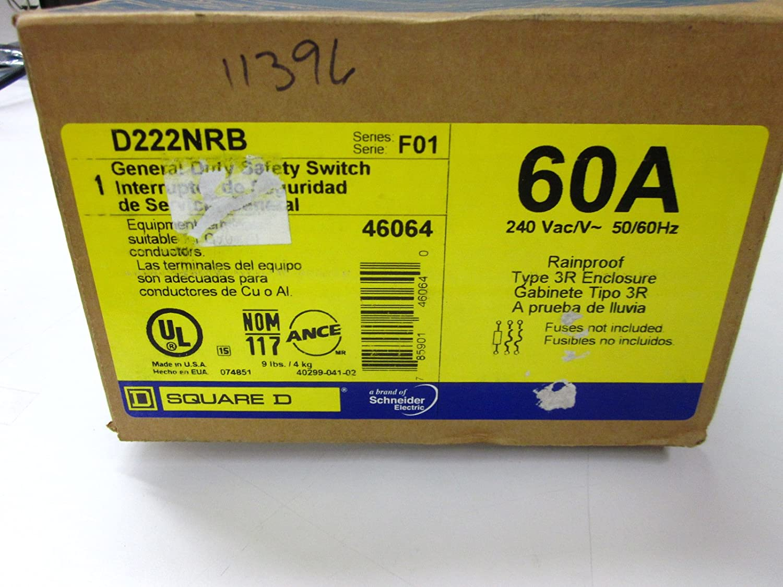 Square D d222nrb 60 a-240 V-3sn RT SW: Amazon.es: Bricolaje y herramientas