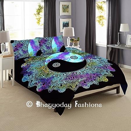 Exklusive Ying Yang Tie Dye Mandala Bettbezug Stickset Fur Madchen