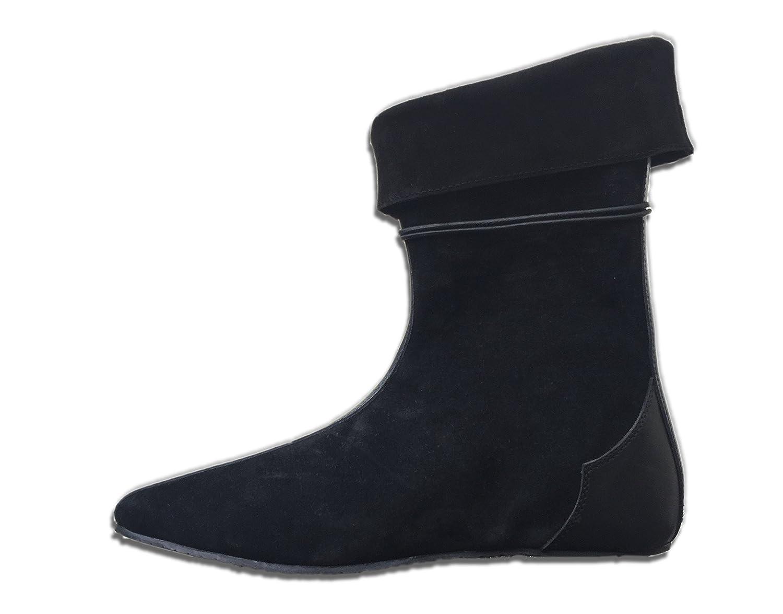 CP-Schuhe Schuhe Mittelalter Schuhe CP-Schuhe Halbstiefel aus Rauhleder Schwarz 006cf8