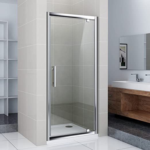 Aica bathrooms - Mampara de ducha (900 x 1850 mm, cristal, pivotante): Amazon.es: Hogar