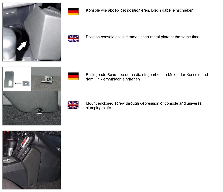 B001T1Y2F8 KUDA 086355 Leather Mount Black Compatible with Mitsubishi Lancer (Since 2008) 81Wj4XBTY2L.SL1500_