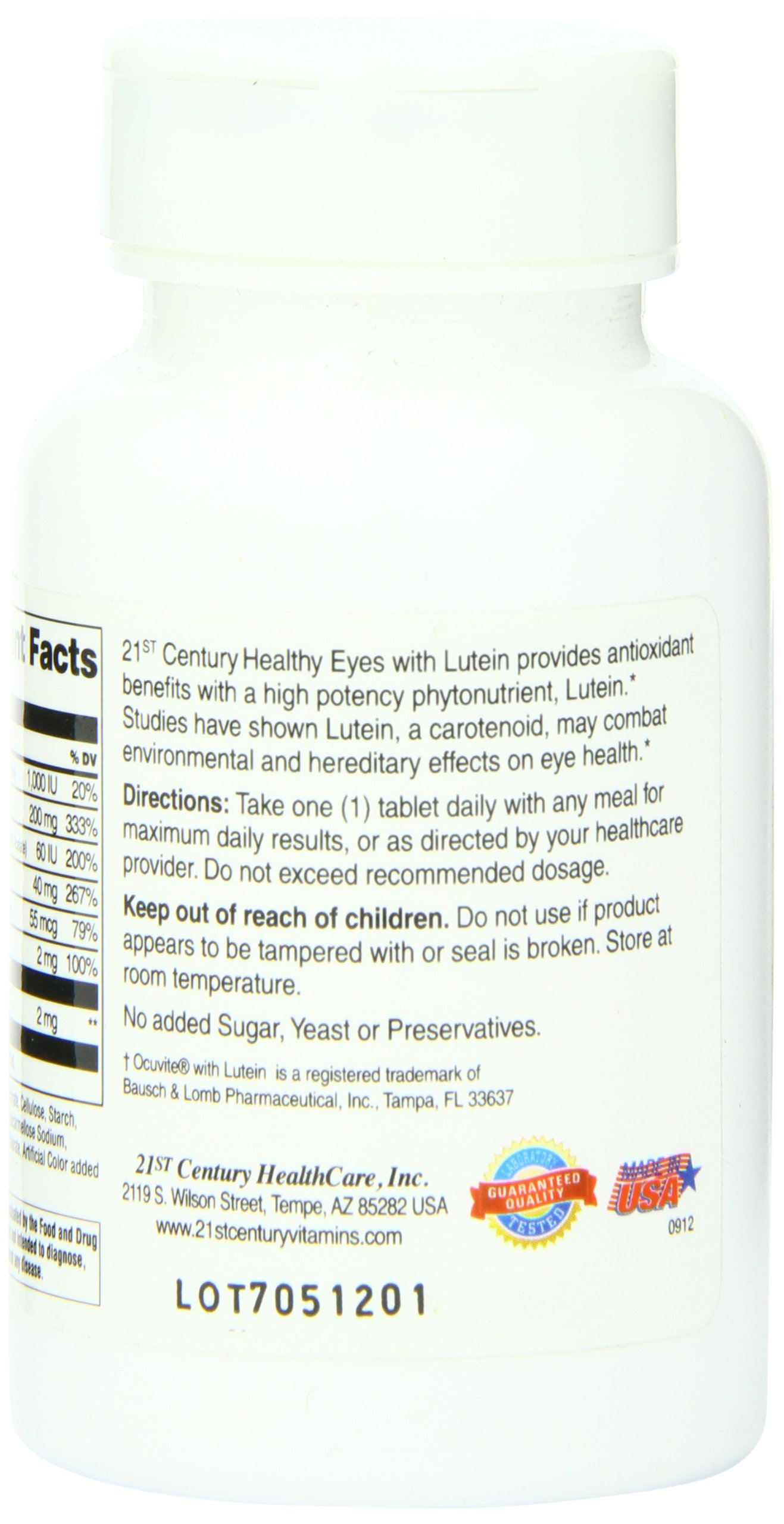 21st Century Healthy Eyes with Lutein Tablets, 60 Count by 21st Century (Image #4)