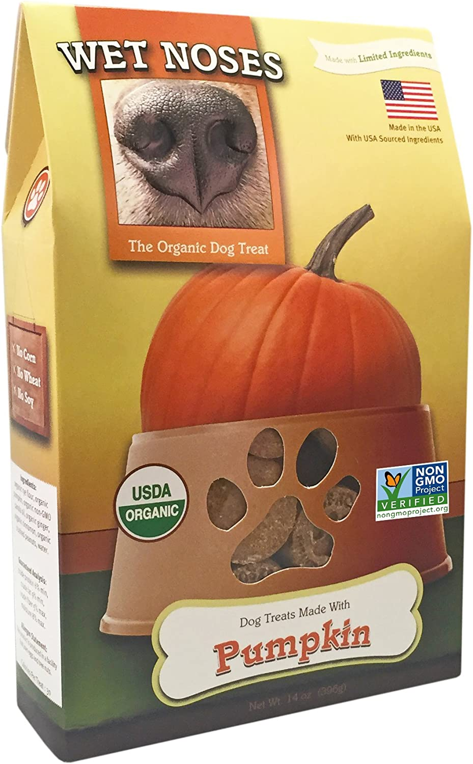 Wet Noses Organic Crunchy Dog Treats – for All Pet Sizes, Breeds – All-Natural Puppy Treat, Senior Dog Snack – 100% Human-Grade – Delicious Chews for Dogs