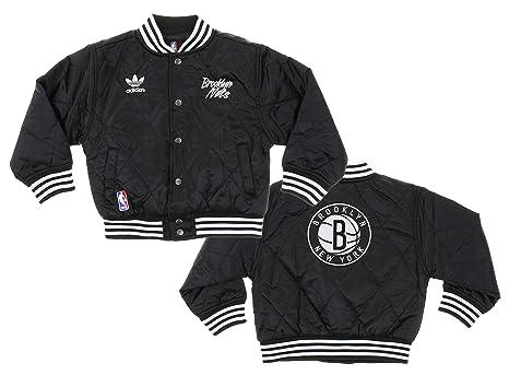 dd86abe4 Amazon.com : adidas Brooklyn Nets NBA Kids Varsity Jacket, Black ...