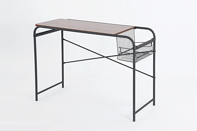 Dark Wood Finish/Metal Frame Home Office Computer Reading Studying Desk