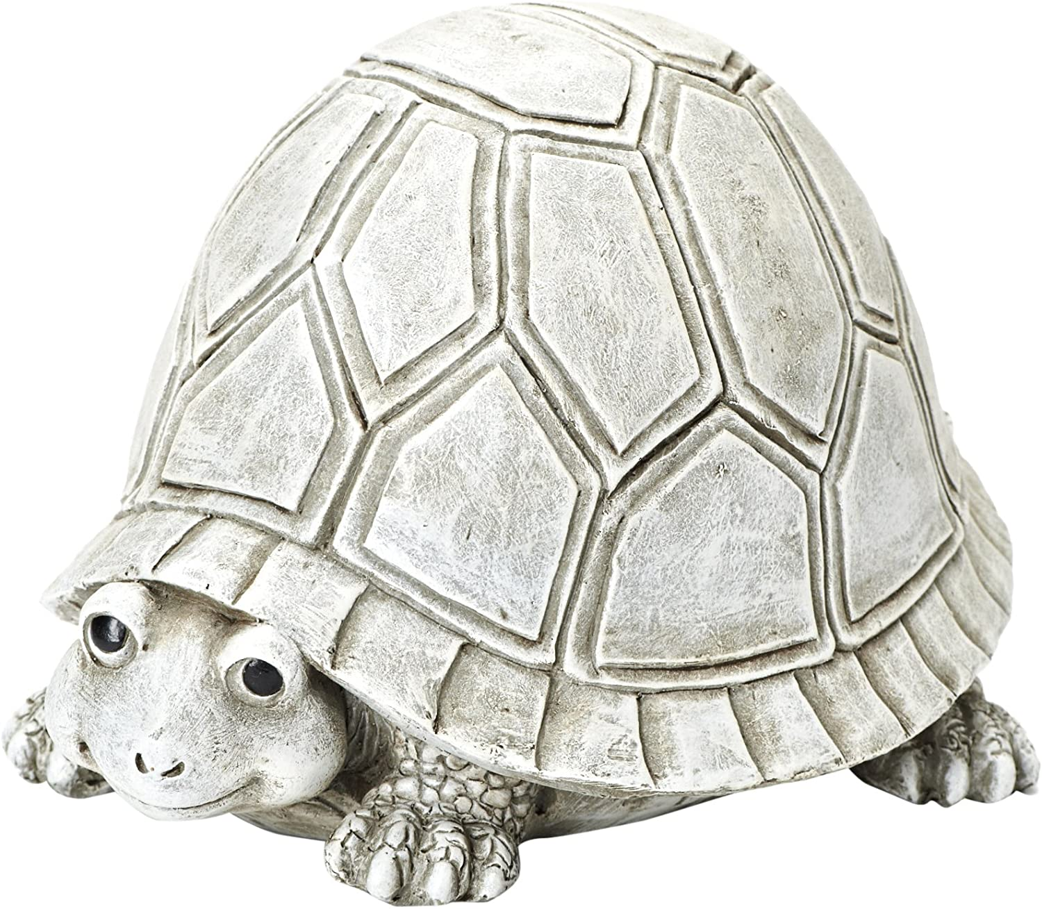 Roman Exclusive Pudgy Pal Turtle Garden Statue, 7-Inch, Made of Dolomite