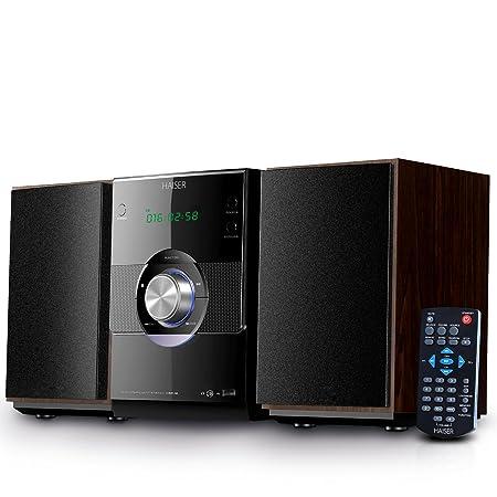 HAISER HSR 116 | 20 Watt RMS mit • CD-Player • Bluetooth • USB • Boxen • FM Radio | Stereoanlage Kompaktanlage Musikanlage Hi