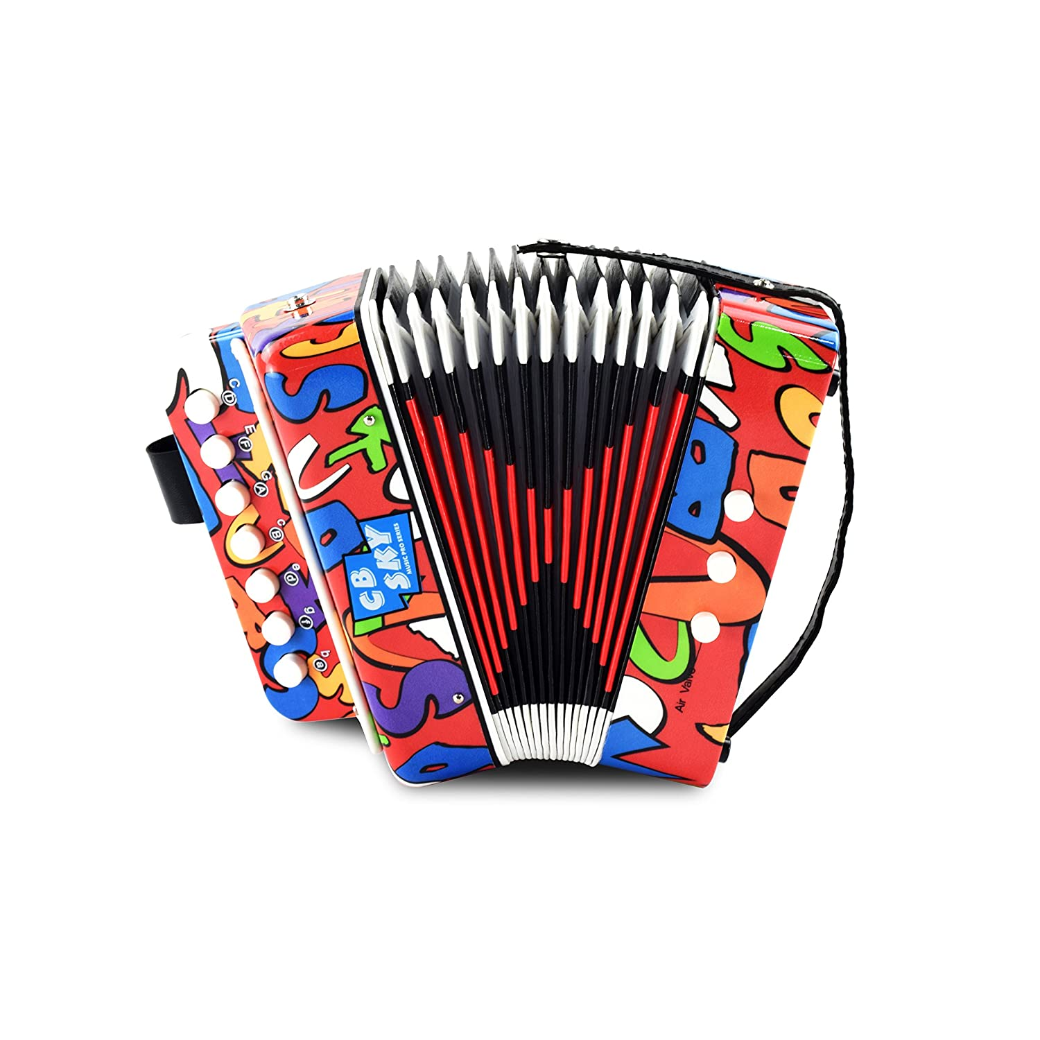 CB SKY Kids' Accordion / Kids Musical Instrument / Musical Toys(R2) MA104R