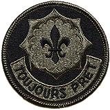ecusson fleur de lys scout lot de 3 insigne us army armée us usa 7cm marines
