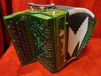 Nueva Saltarelle diatónica botón acordeón Aether 3 verde B C ...