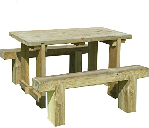 Forest Garden Forest Sleeper Bench 1.2m Pressure Treated