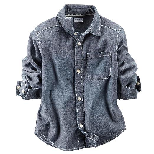 aa8ac6257 Amazon.com: Carter's Little Boys' Woven Button Down Shirt (Toddler ...