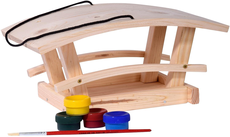 dobar 26051e Vogelhaus Bausatz für Kinder, aus Holz zum Aufhängen, 29 x 18 x 14 cm, bunt aus Holz zum Aufhängen