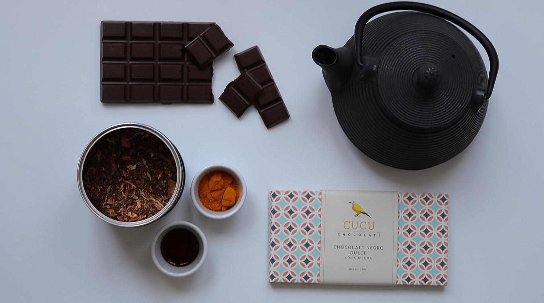 chocolate CUCU CHOCOLATE Negro dulce 54%: Amazon.es: Alimentación y bebidas
