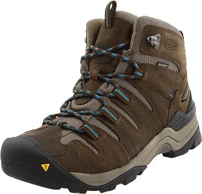 KEEN Women's Gypsum Mid Waterproof Hiking Boot,Dark Earth/Celestial,5 M US