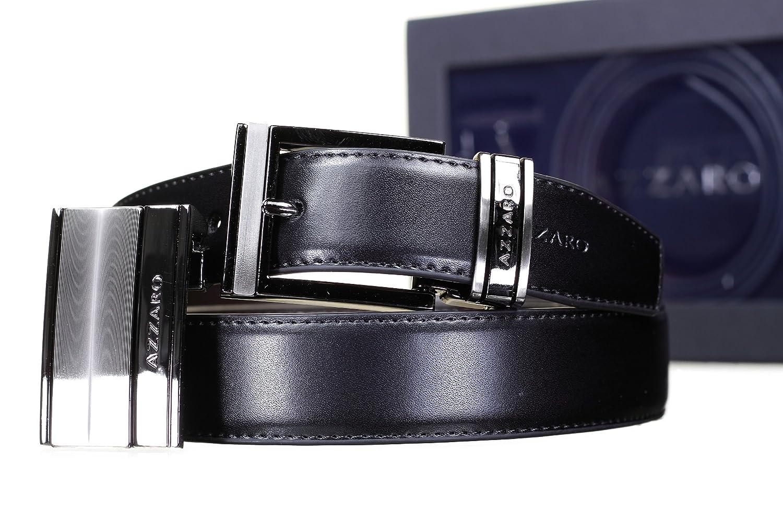 c28be950894c AZZARO - Ceinture Coffret 2 Boucles 712 Reversible Noir Marron - Couleur  Noir - Taille Ajustable  Amazon.fr  Vêtements et accessoires