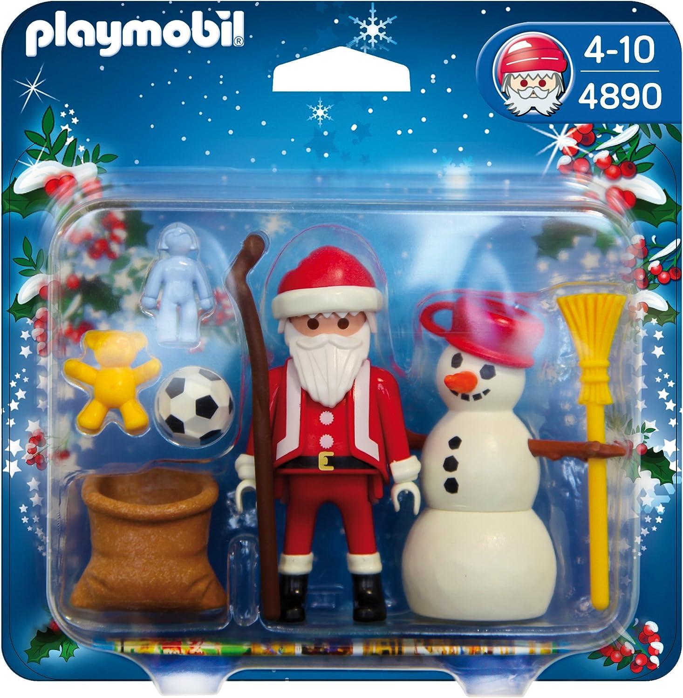 PLAYMOBIL - Papá Noel y muñeco de Nieve, Figuras de Juguete (4890)