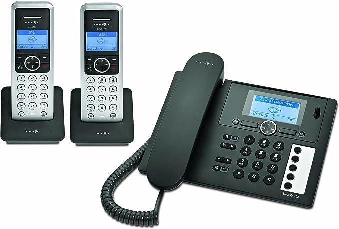 Deutsche Telekom Sinus PA 103 plus 2, base&handset, Digital, 100 entradas, 20 min, Monocromático, Escritorio [importado de Alemania]: Amazon.es: Electrónica