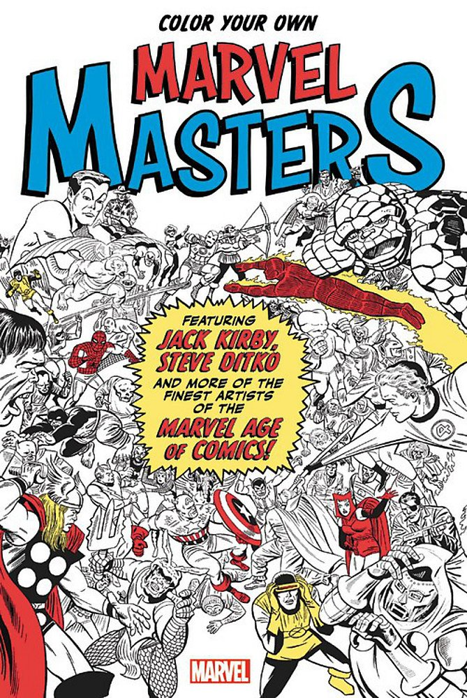 Amazon.com: Color Your Own Marvel Masters (9781302902735): Marvel ...