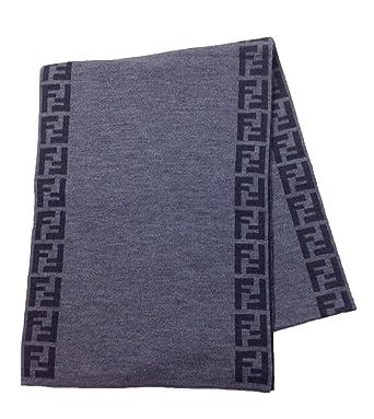 824f6cb67fa Fendi Knit Monogram Wool Scarf Zucca Stripe