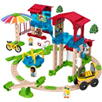 Fisher-Price Wonder Makers Schoolyard Wooden Track Play Set (75-Piece)