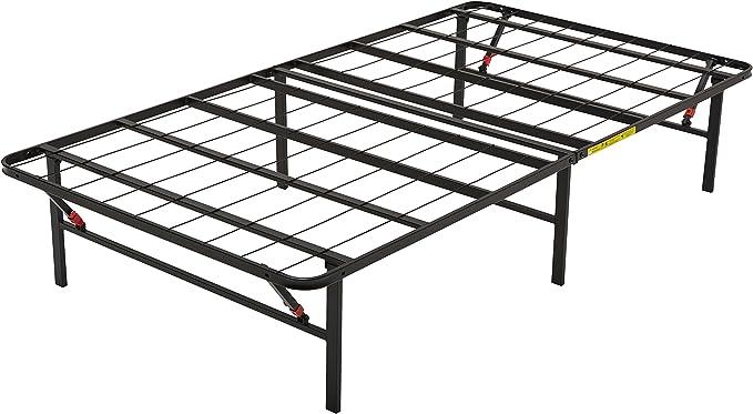 Amazon Basics - Somier fijo plegable, montaje sin herramientas, permite almacenar debajo de la cama, 90 x 200 cm