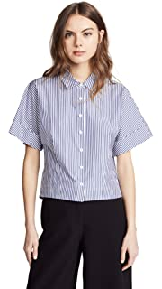 f5e5e3f8 Amazon.com: Theory Women's Short Waleska Chambray Den Top: Clothing