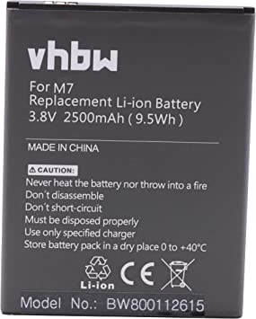 vhbw Li-Ion batería 2500mAh (3.8V) para teléfono móvil Smartphone ...