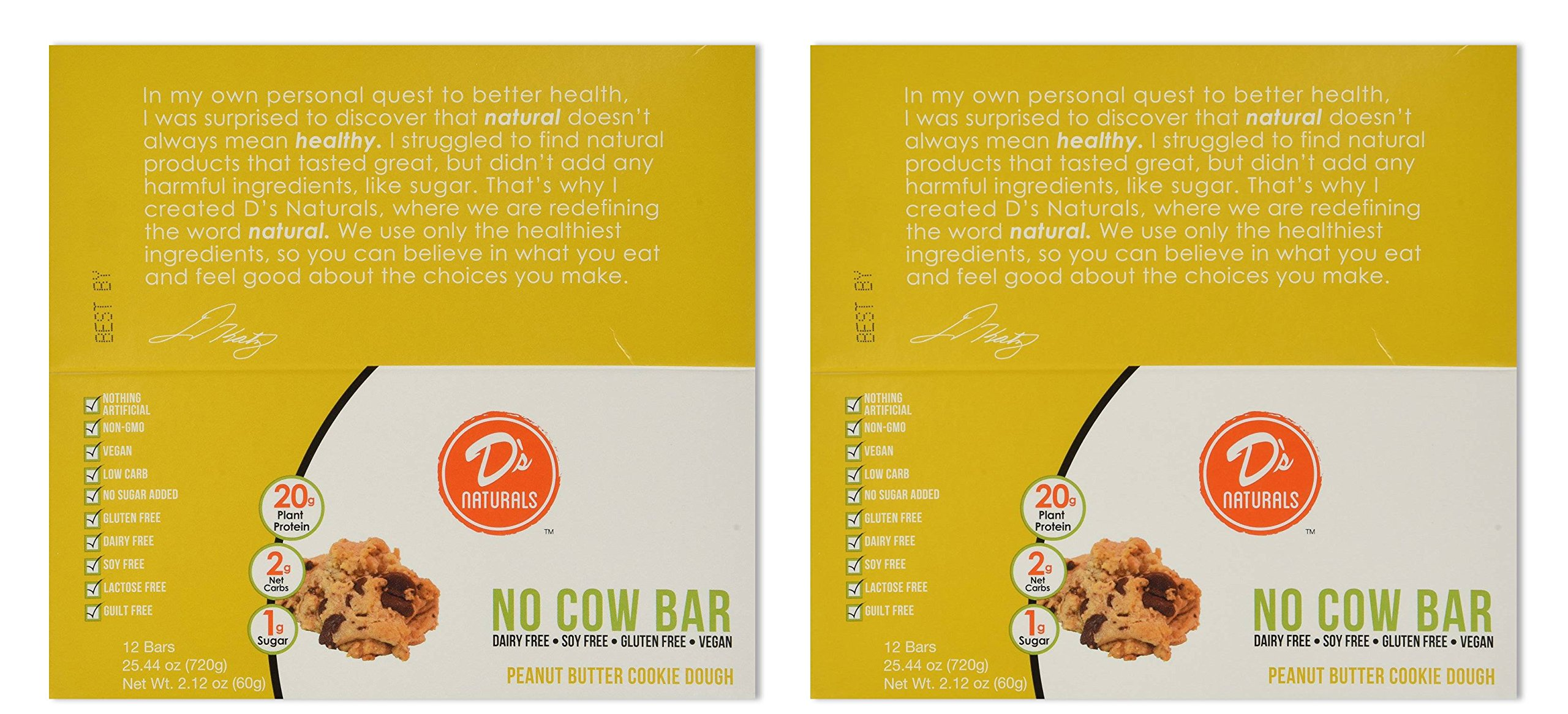 No Cow Bar, Peanut Butter Chocolate Chip, 12 Bars (2 Pack)