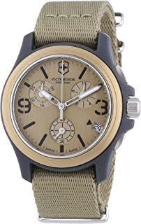 Victorinox Swiss Army Unisex 241533 Original Chronograph Beige Nylon Strap Watch
