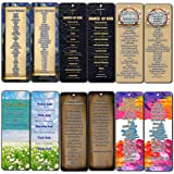 Christian Bookmarks - Books of The Bible Bookmarks Cards (30-Pack) - Ten Commandments - Names of God & Jesus - Fruits of The Spirit