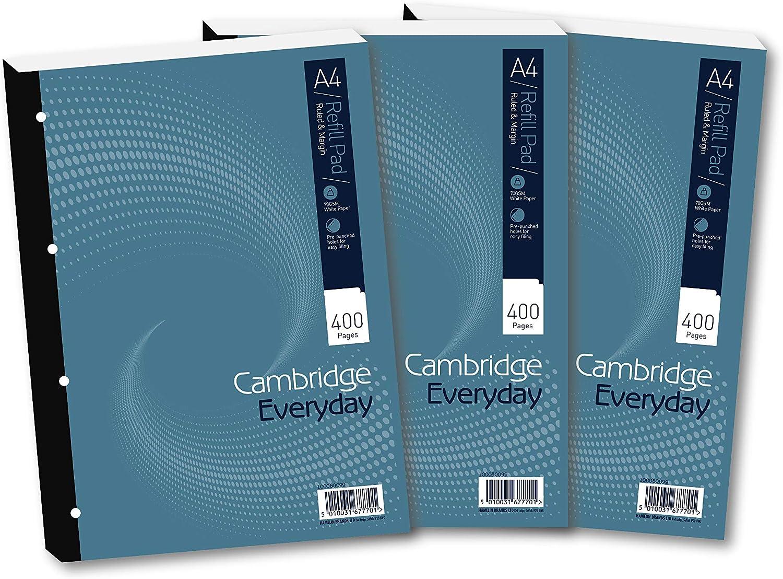 Summit 677701 - Lote de libretas (3 unidades, 60 g/m², 400 hojas rayadas, A4, margen blanco): Amazon.es: Oficina y papelería