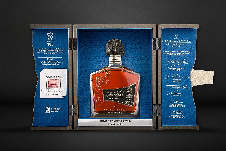 Ron Flor de Caña 30 años V Generaciones - 1 botella de 70 cl: Amazon.es: Alimentación y bebidas