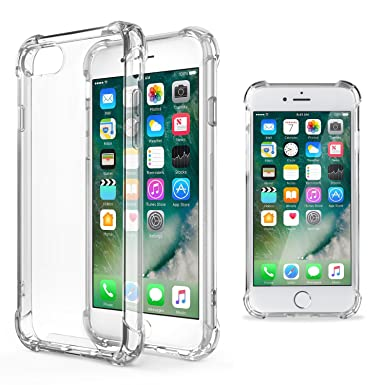 innovative design 4a92d 09669 Moozy Shock Proof Silicone Case for iPhone 5s / iPhone SE - Transparent  Crystal Clear phone Case soft TPU Cover