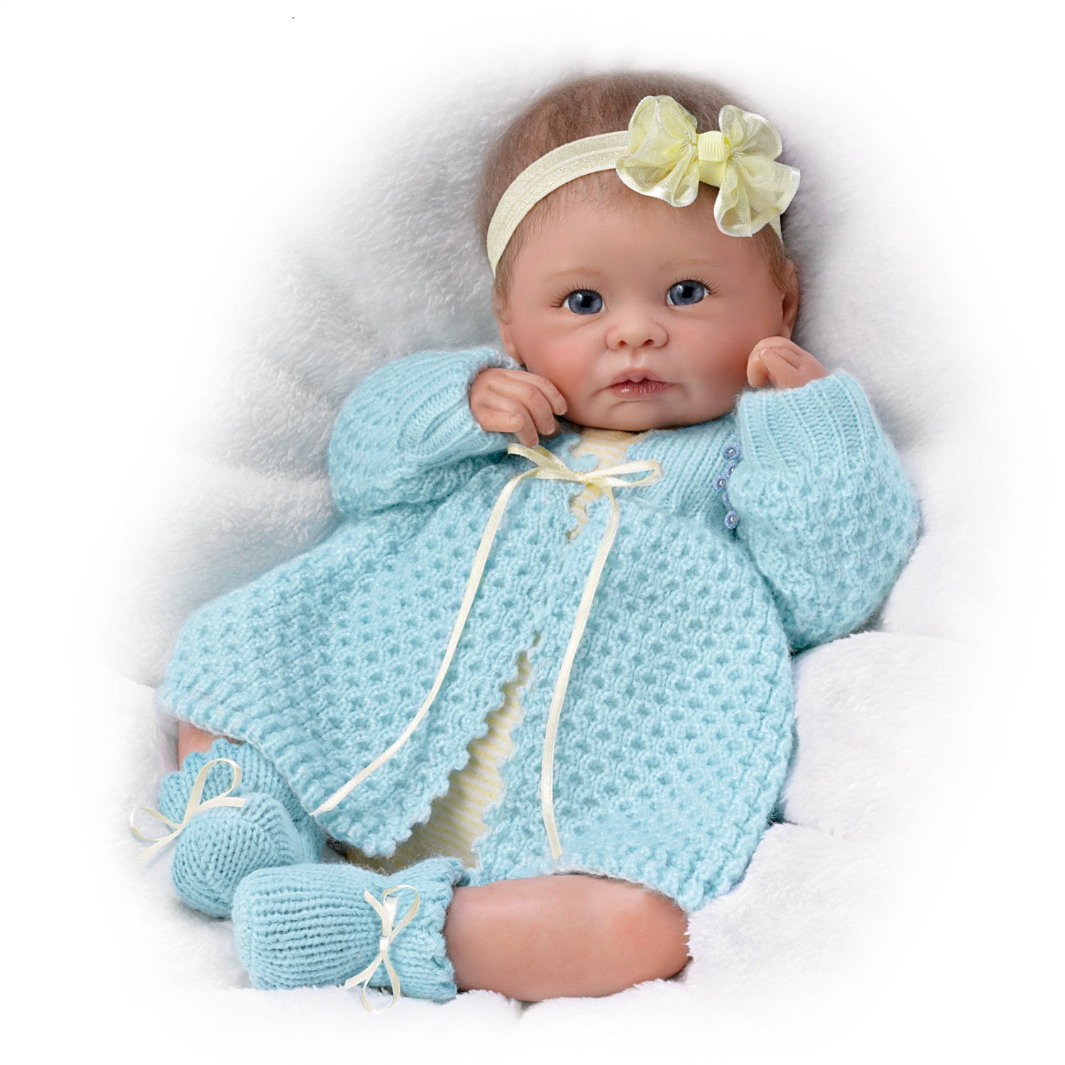 Sweetly Snuggled Sarah  So Truly Real® Lifelike & Realistic Weighted Newborn Baby Doll 16-inches by The Ashton-Drake Galleries