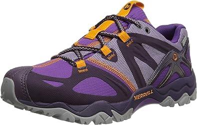 Merrell - Zapatillas de Running para Mujer, Impermeables, diseño de Arco Iris, Púrpura (Púrpura (Plum Purple)), 9 B(M) US: Amazon.es: Zapatos y complementos