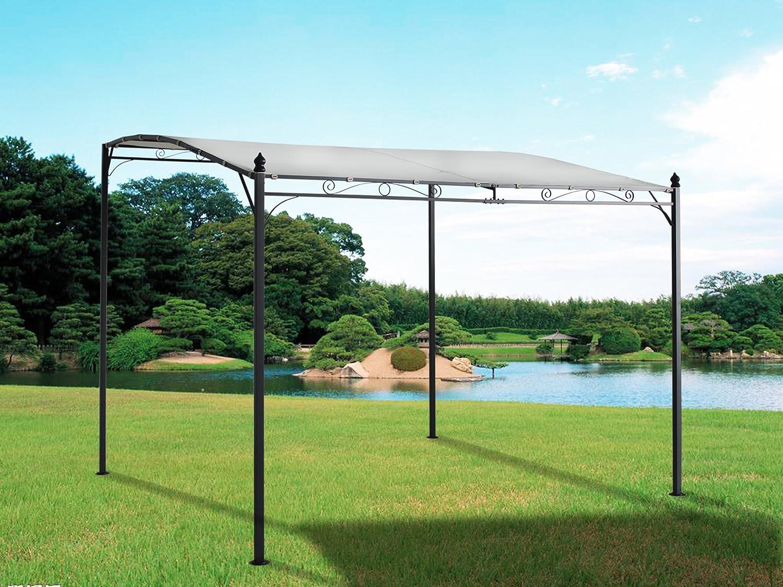 Greenbay 3 m x 3 m Deluxe – Dosel de metal pared Gazebo toldo Garden Marquee refugio para puerta porche: Amazon.es: Jardín