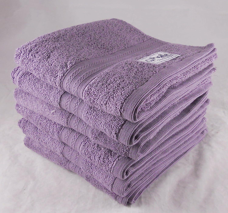 Paquete de 6 Zero Twist 100% toallas de algodón turco - violeta púrpura: Amazon.es: Hogar