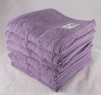 Lote de 2 cero giro 100% toallas de baño de algodón turco - violeta púrpura: Amazon.es: Hogar