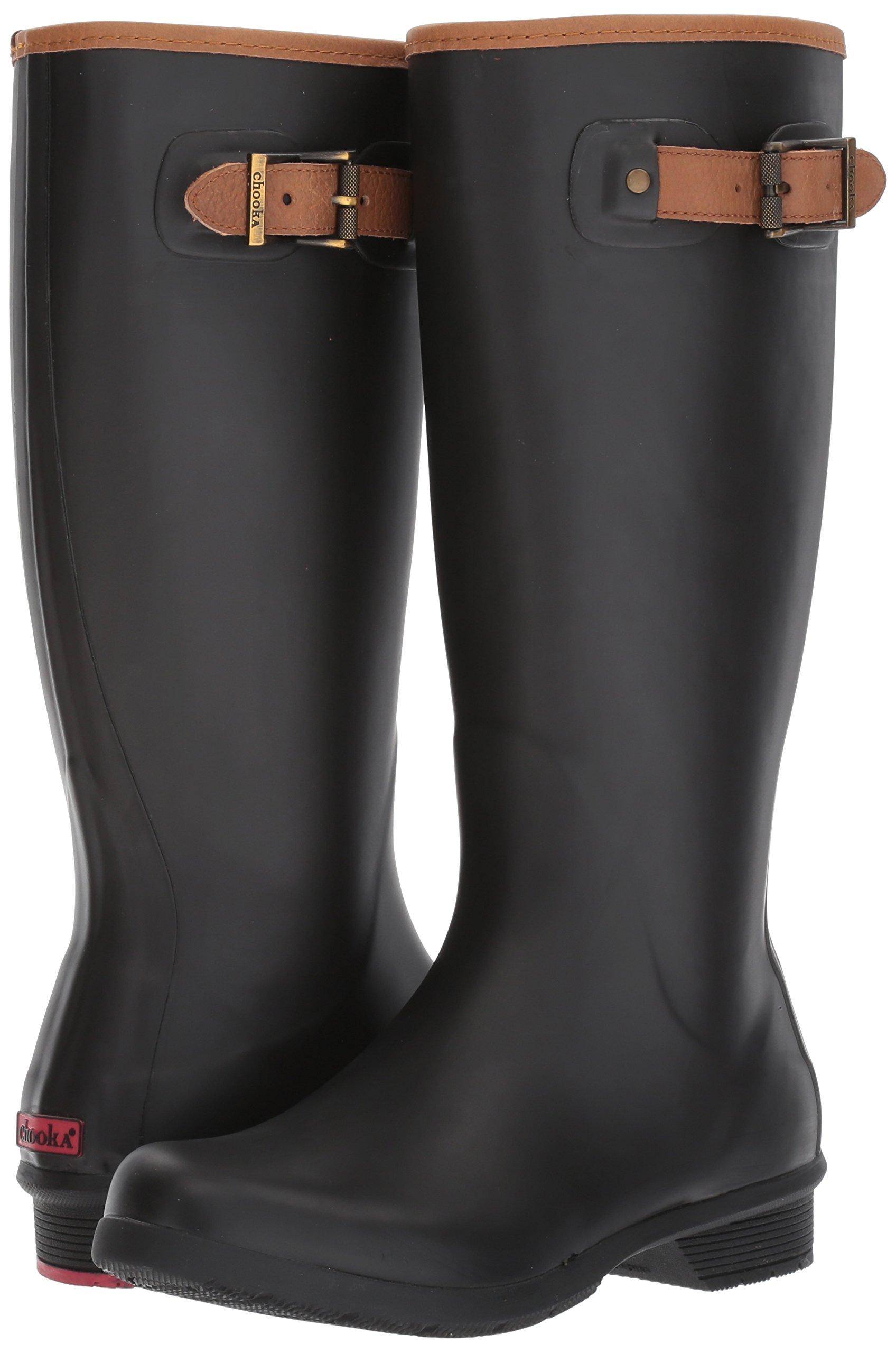 Chooka Women's Tall Memory Foam Rain Boot, Black, 7 M US by Chooka (Image #6)