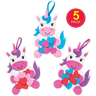 Baker Ross Love Unicorns Decoration Kits (Pack of 5) for Kids to Make and Display for Mother's Day / Valentine's Day: Toys & Games