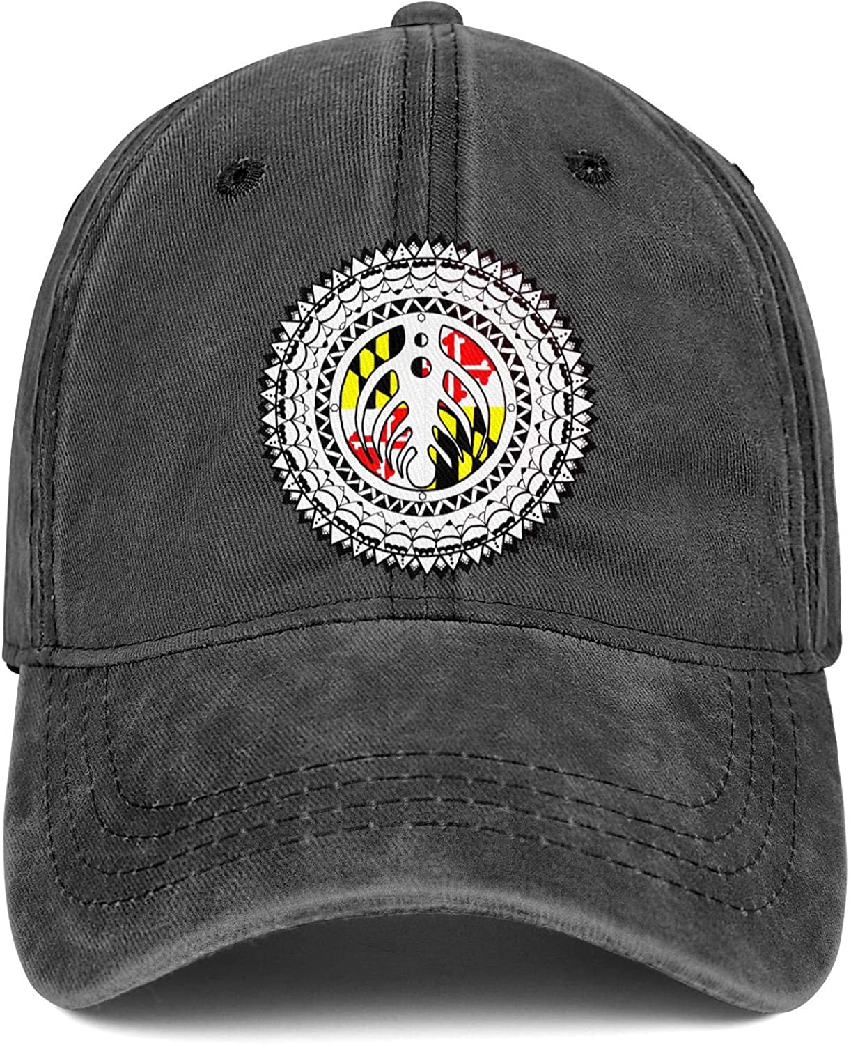 SNEFUEE Men Womens Bassnectar Maryland Zentangle Cap Trendy Denim Cowboy Hats Hiking Caps