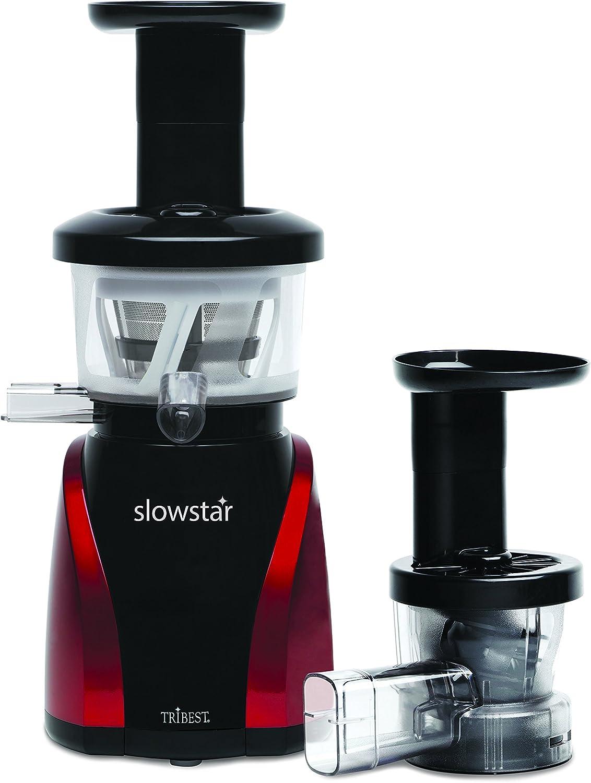 Tribest SW2000 Slow Star Vertical Juicer and Mincer, 200 W, RedBlack