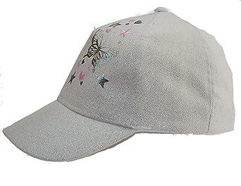 b241e516c96b Véranno 1 casquette papillon effet pailleté - chapeau - enfant - fille - taille  52 ou 54-42% coton - 52% polyester  Amazon.fr  Vêtements et accessoires