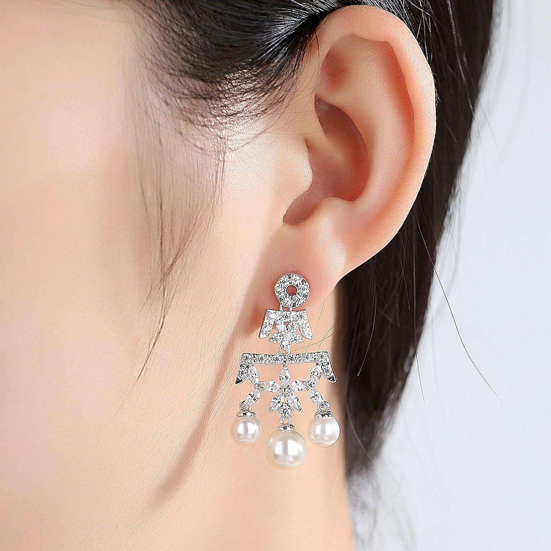 Gold Plated Earring Women Girl nonstandard-shape Stud Earrings White Wedding Anniversary Gift