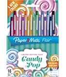 Paper Mate 1979496 Flair Felt Tip Pens, Ultra Fine Point (0.4mm), Limited Edition Candy Pop Pack, 16 Count (2027233)