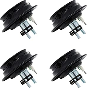 Raven Gas Range Burner Assembly for Whirlpool, Maytag, Magic Chef Replaces 74003963 12500050 3412D024-09 ((4) Pieces)