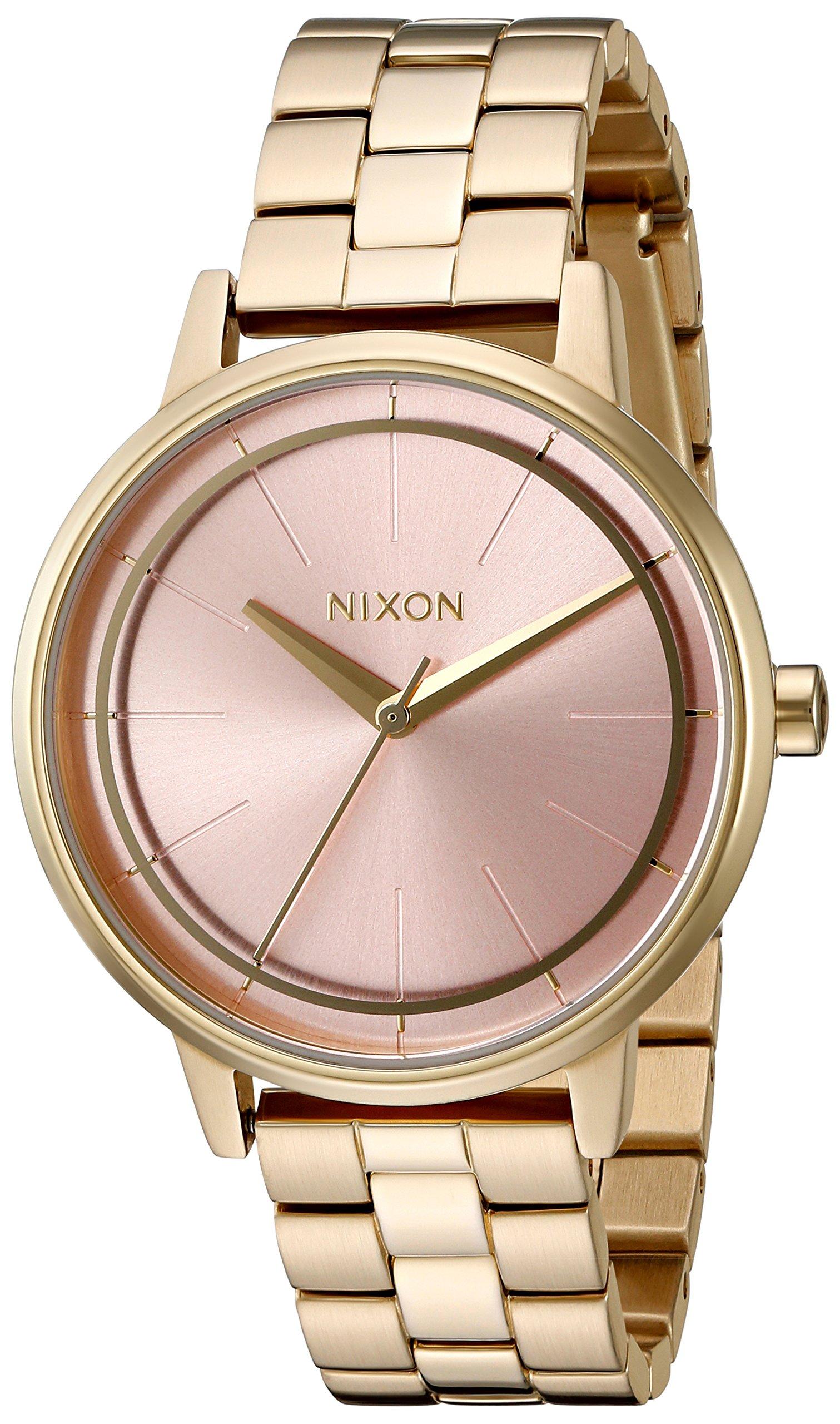 Nixon Women's 'Kensington' Quartz Stainless Steel Watch, Color Gold-Toned (Model: A0992360-00) by NIXON